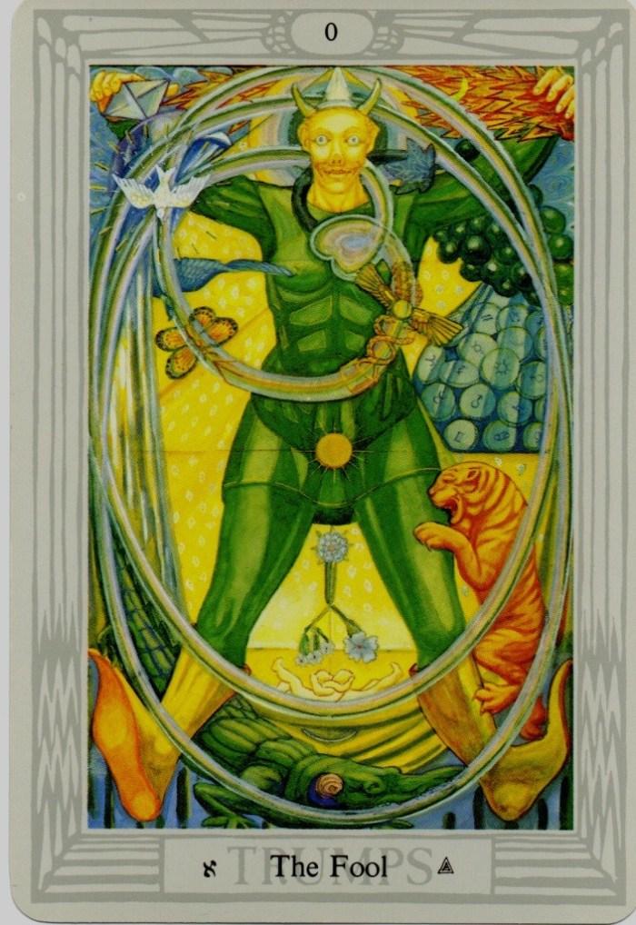 Thoth Fool Tarot Card Tutorial