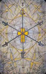Image result for thoth tarot 6 of swords
