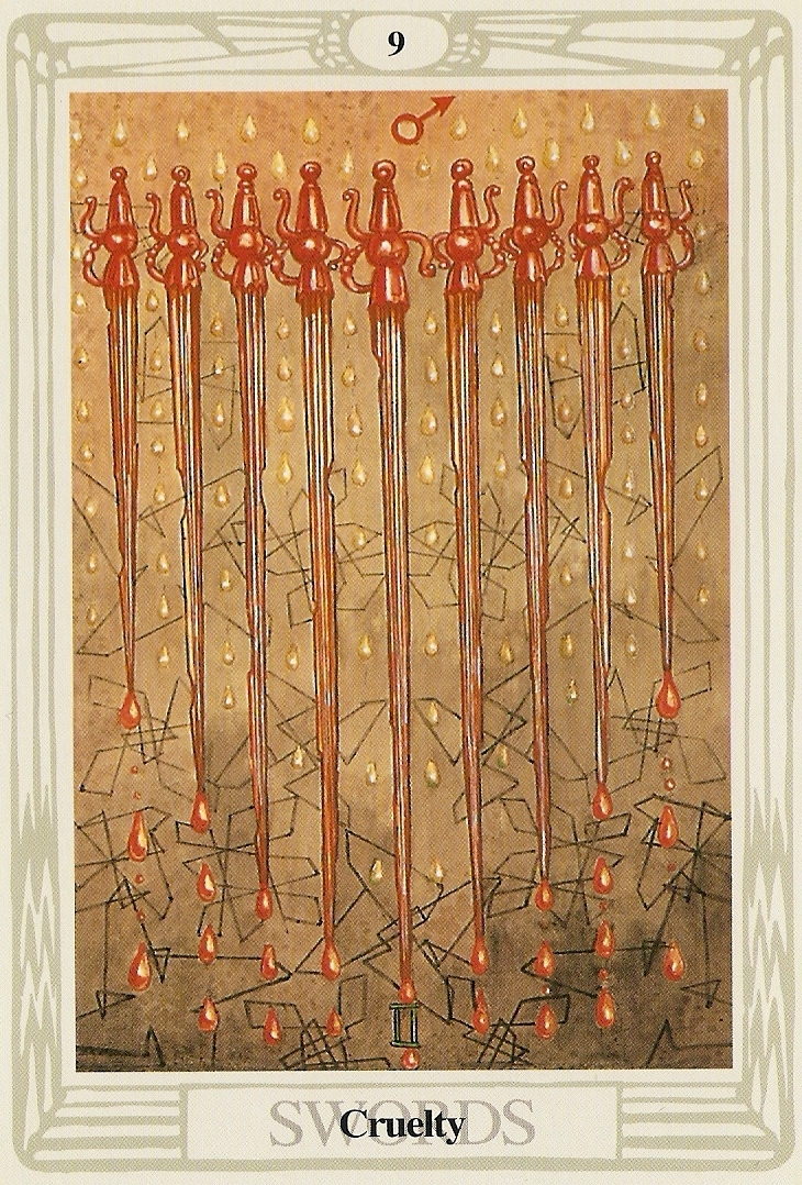 Nine Of Swords Thoth Tarot Card Tutorial Esoteric Meanings