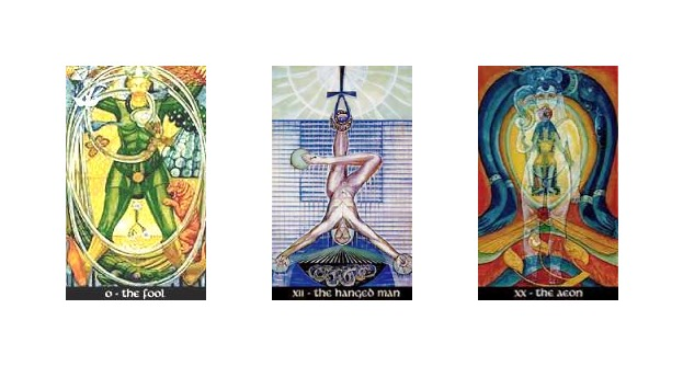 Thoth Hanged Man Tarot Card