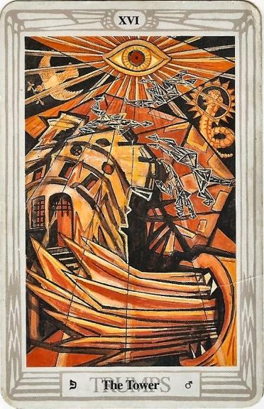 Thoth Tower Tarot Card