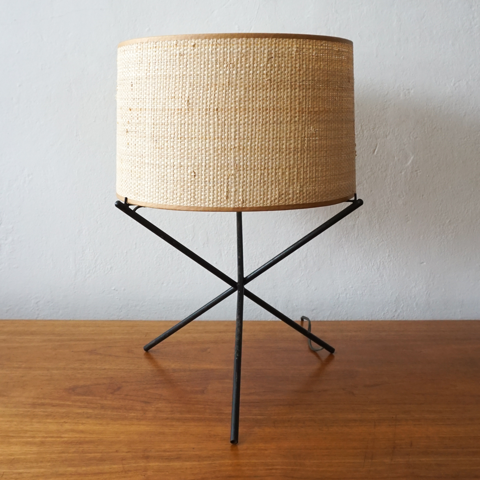 1950s Iron Tripod Table Lamp Esoteric Survey