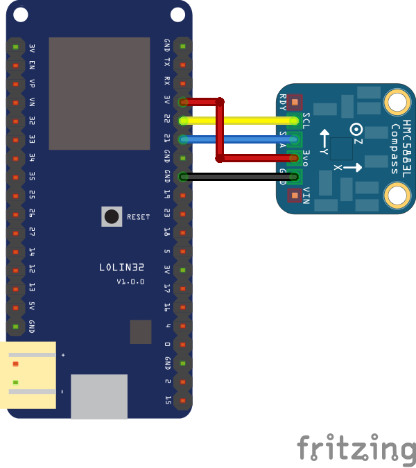 ESP32 and HMC5983 magnetometer example | ESP32 Learning