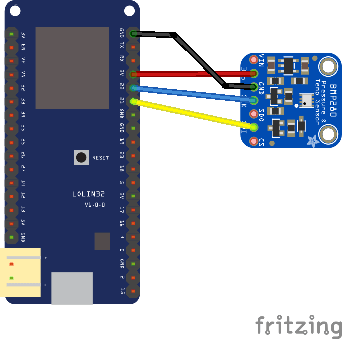 esp32 and bmp280