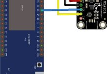 esp32 and MSA301 layout