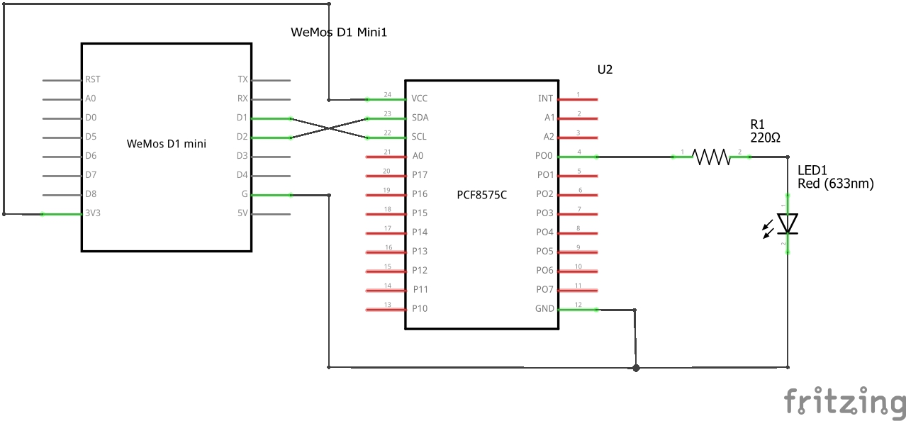 PCF8575 I/O expander and ESP8266 examples - esp8266 learning