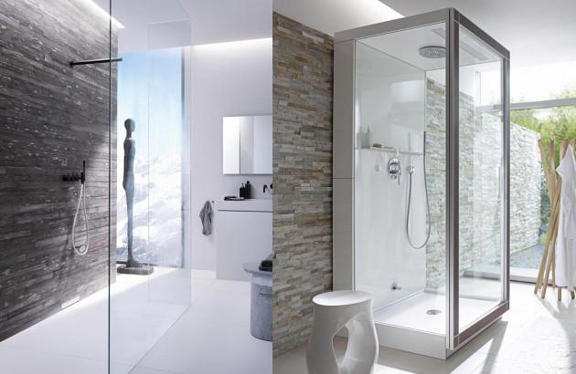 cabine de douche ou douche a l