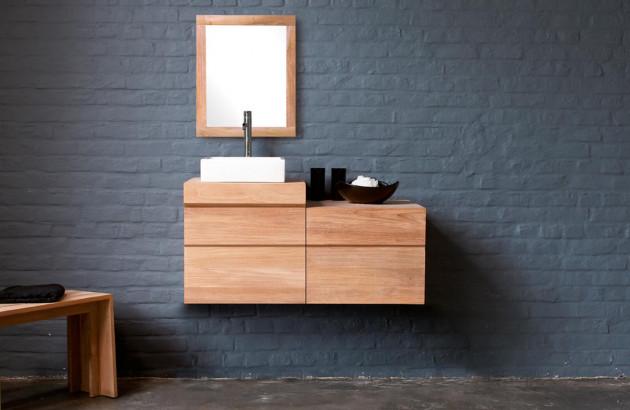 le mobilier de salle de bains en teck
