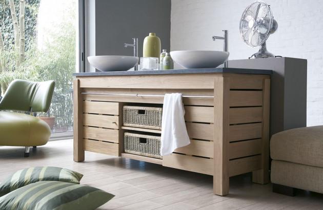 meuble de salle de bain en teck