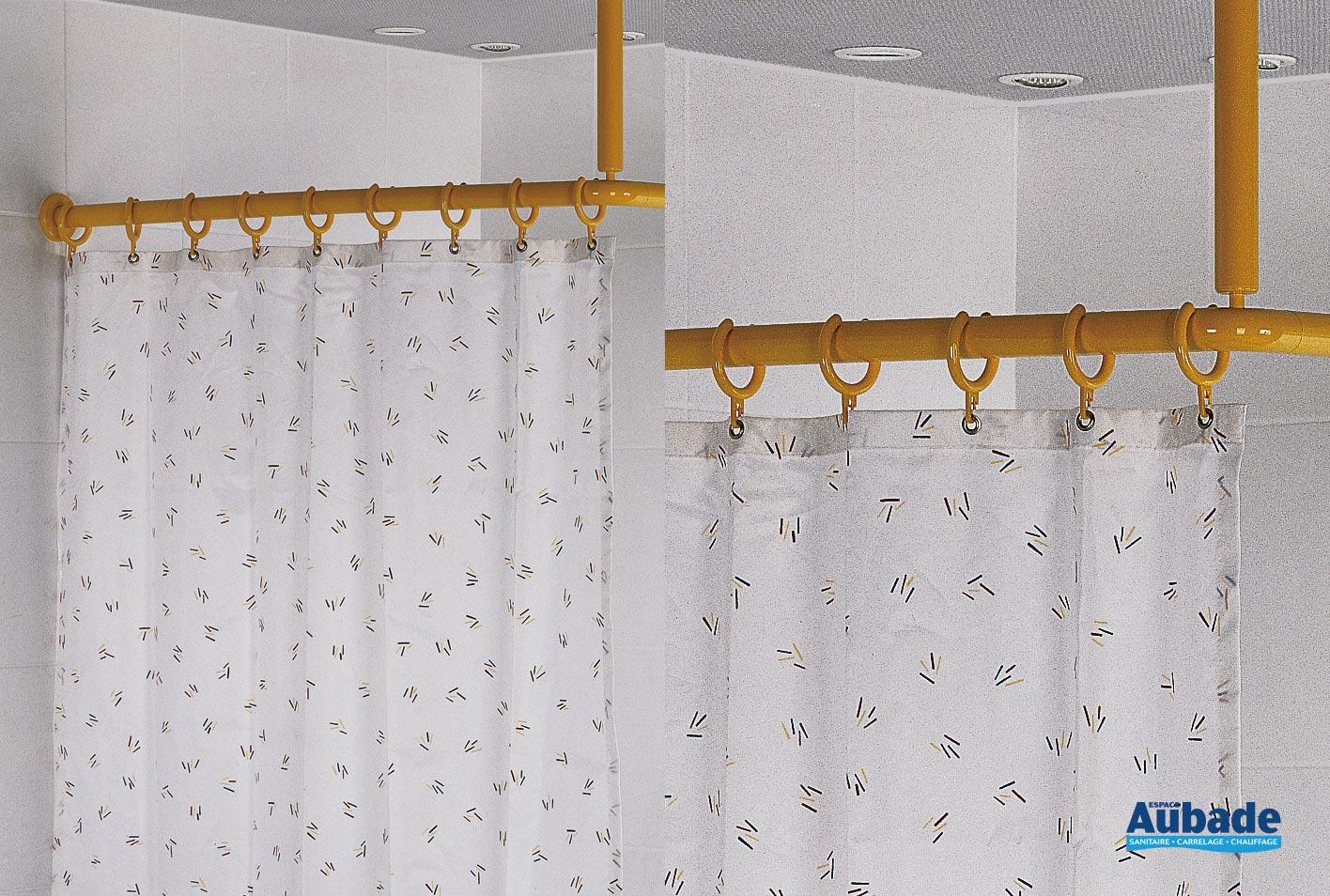 rideau de douche pour tringle en angle