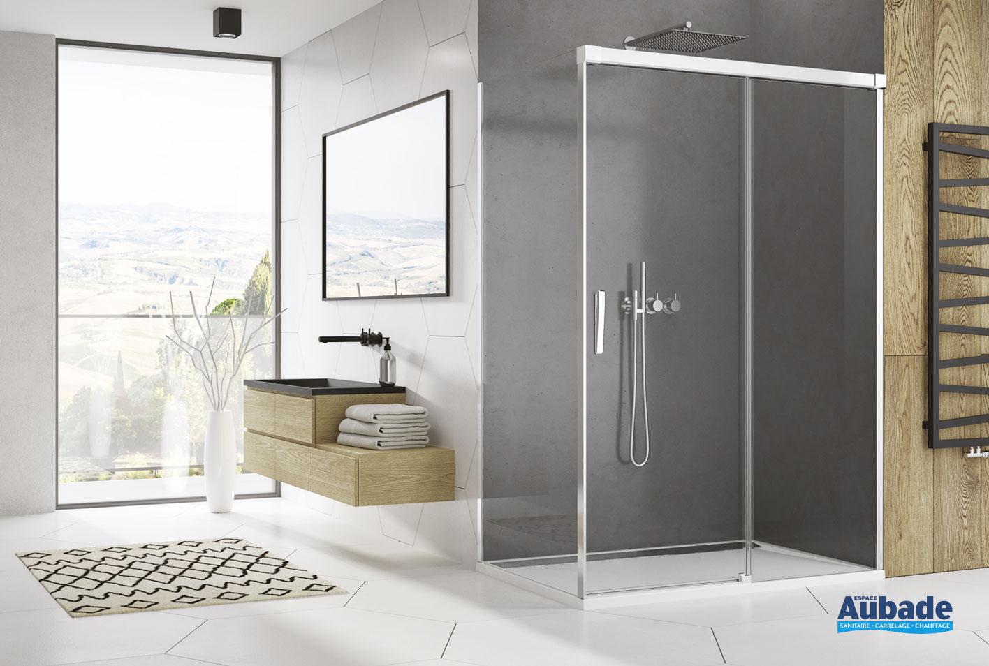 paroi de douche avec porte coulissante ophalys de sanswiss