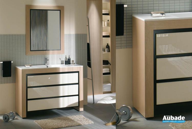 Meuble Salle De Bains Chene Blanc Decotec Vendome Espace Aubade