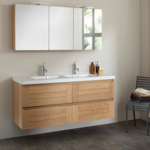 meuble salle de bain imitation bois