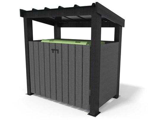- ABRI CONTENEUR avec toit simple ESPACE URBAIN