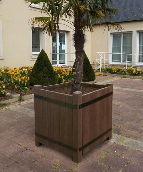 jardiniere bac a oranger en plastique recycle pour ville et jardins - BAC A ORANGER ESPACE URBAIN