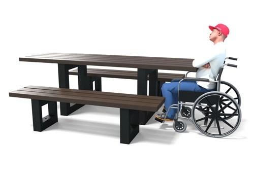 a:0:{} - Table de pique-nique spéciale PMR ESCAPADE ESPACE URBAIN