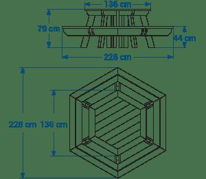 Shéma :Table de pique-nique GALA