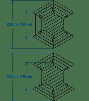 Shéma :Table de pique-nique adaptée aux pmr GALA