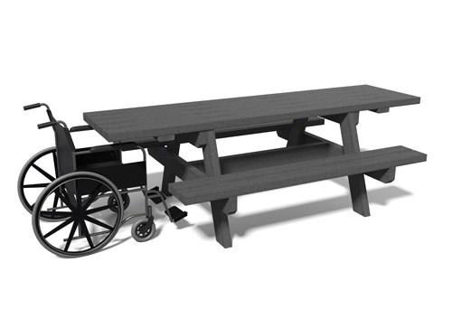 - Table de pique-nique adaptée aux pmr PARC ESPACE URBAIN