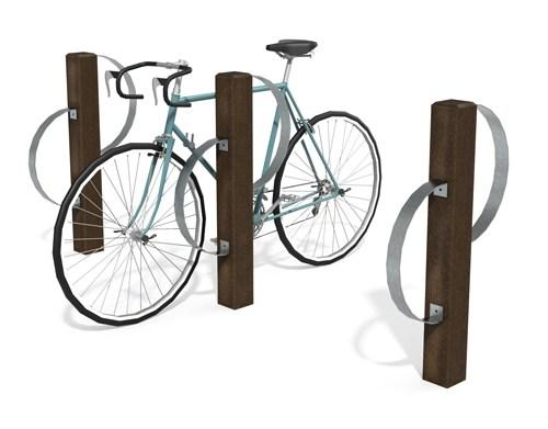 Borne de stationnement vélo en plastique 100% recyclé et arceau inox - Range-vélo ARCADE ESPACE URBAIN