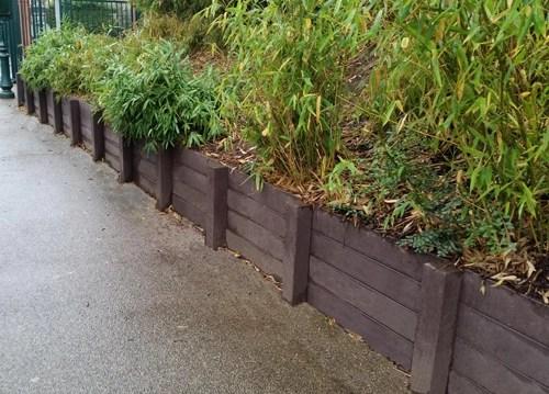 Retenue de terre en panneaux, en plastique 100% recyclé - Retenue de terre