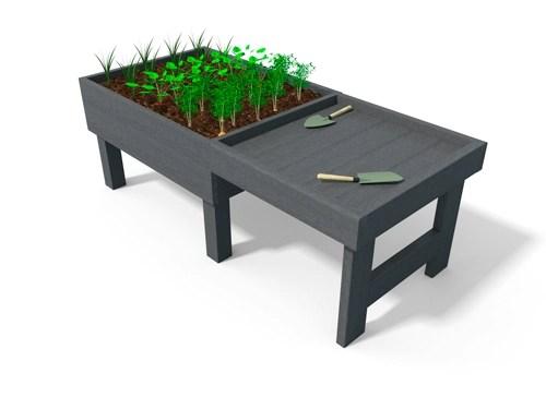 table de rempotage pour enfant en plastique recycle - Table de rempotage sur pieds ESPACE URBAIN