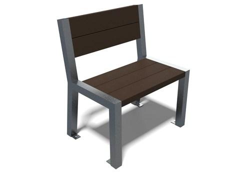 chaise en plastique recycle et metal peint - chaise ÉLÉGANCE ESPACE URBAIN
