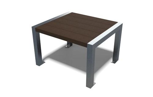 table basse en plastique recycle et pieds metal peint - Table basse ÉLÉGANCE ESPACE URBAIN