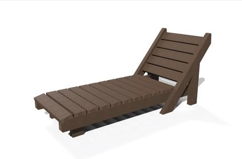 chaise longue en plastique recycle - Chaise longue bain de soleil ÉQUATEUR ESPACE URBAIN