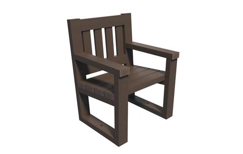 fauteuil 100% en plastique recycle gamme square - fauteuil SQUARE ESPACE URBAIN