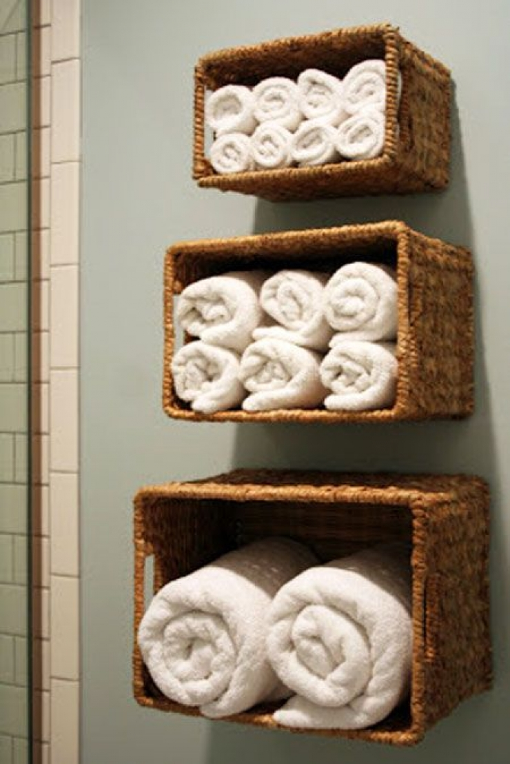 rangement serviette de bain venus et