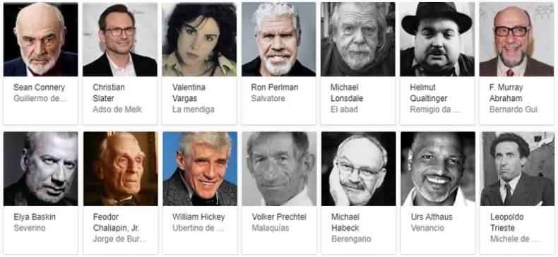 Personajes el Nombre de la Rosa