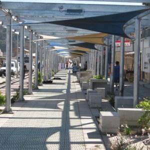 Velas de sombra Paseo Peatonal Dichato