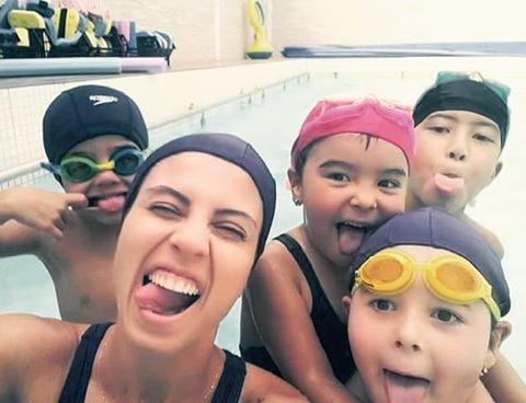 Aqui seu filho aprende a nadar enquanto voc treina!!! Aulashellip
