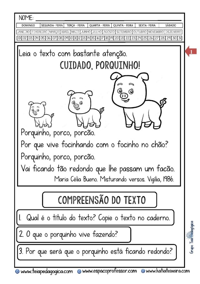 PORCO-PORQUINO-POCAO-Copia-2.doc-page-001-724x1024 Atividade tipo de frases com  interpretação