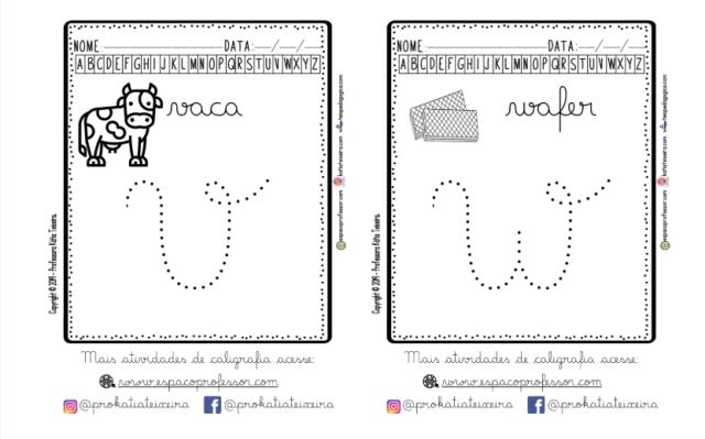 2 Alfabeto cursivo pontilhado