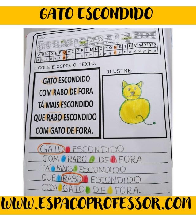ATIVIDADE-DE-LEITURA Letra G interativa Gato escondido