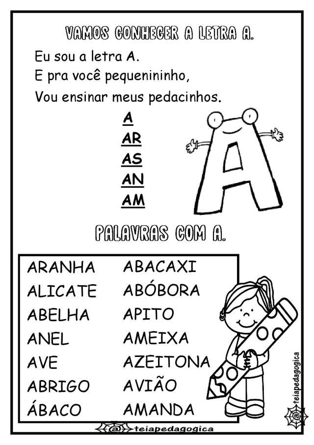 Caderninho-de-atividades-letra-a-page-004 Ficha de leitura letra A.