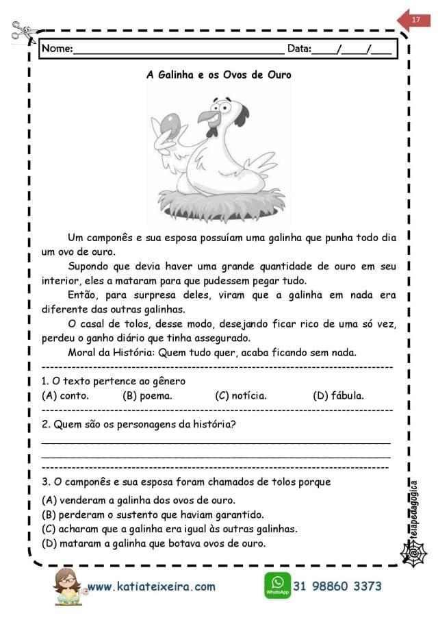Novo-caderno-Leitura-e-interpreta-4-e-5-page-017 20 Atividades de leitura e interpretação para o 5º ano
