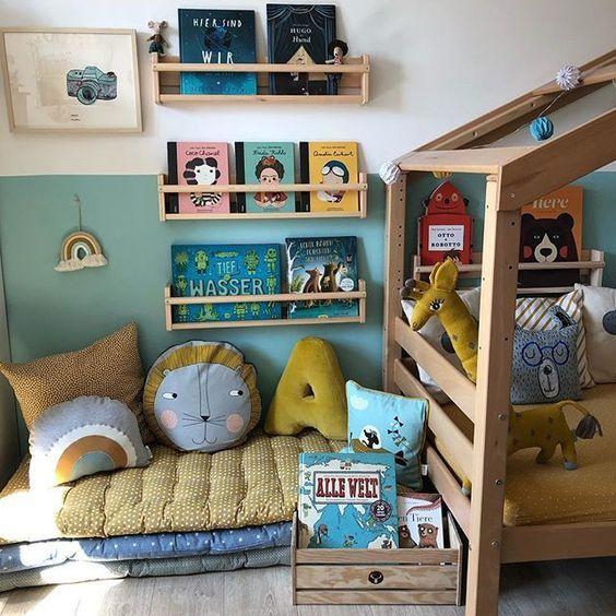 Sugestões-para-cantinhos-de-leitura-12 30 Sugestões para cantinhos de leitura em casa ou na escola