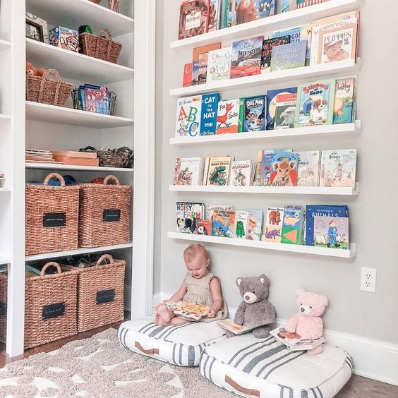 Sugestões-para-cantinhos-de-leitura-15 30 Sugestões para cantinhos de leitura em casa ou na escola