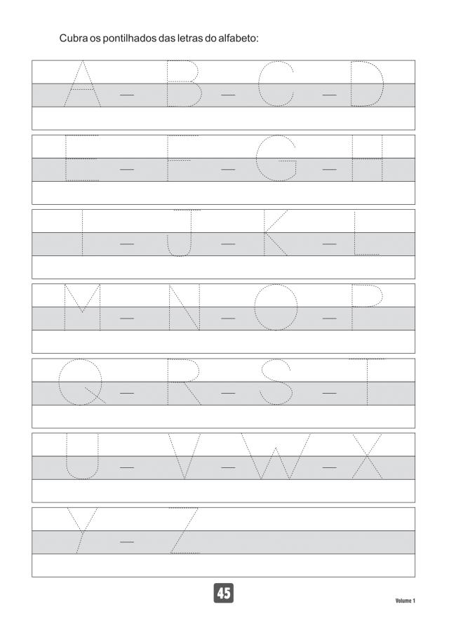 VOLUME1-45 49 Atividades de caligrafia letra bastão