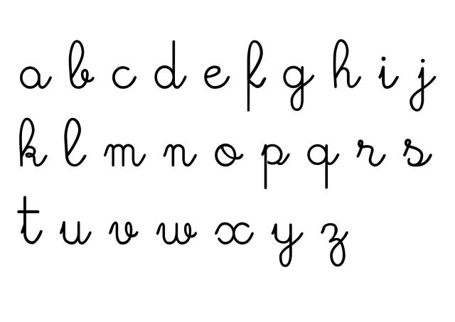 Fonte letra cursiva para baixar