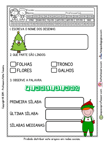 Atividade Pinheirinho de Natal.