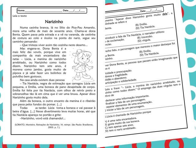 Atividade de português 5º ano