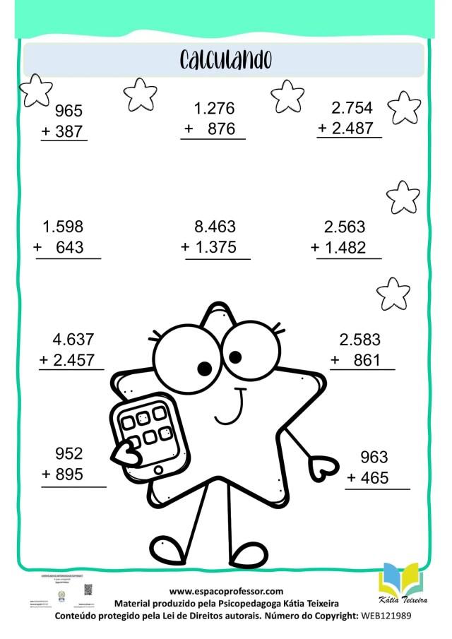 05 Atividades de matemática 4º ano para baixar