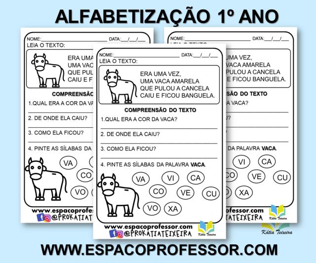 Atividades português 1º ano alfabetização para imprimir