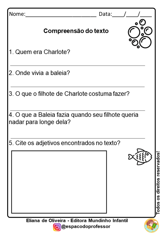 Atividades de Alfabetização 2º Ano Para Imprimir com texto