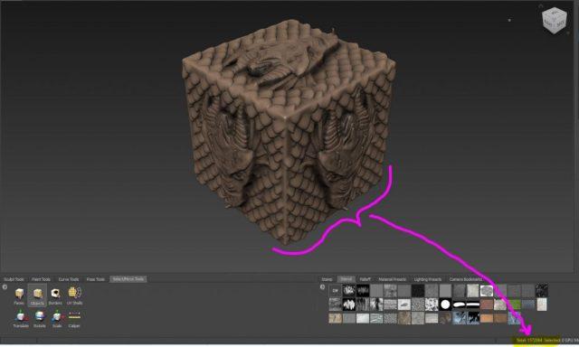 Geometría real creada con un millón y medio de polígonos en Mudbox.