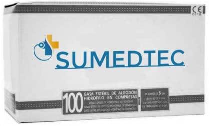 Gases estèrils Sumedtec de 8 capes teixides per a la cura de ferides en primers auxilis 100 unitats